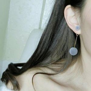 Jewelry - New Grey Ball Earrings